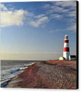 Orford Ness Lighthouse Canvas Print by Photo by Andrew Boxall