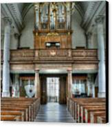Organ At St Mary Of Aldermanbury Canvas Print by David Bearden