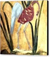 Oriental Crane Canvas Print