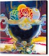 Ornate Black Bowl Canvas Print