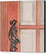 Ornate Door Handle Canvas Print