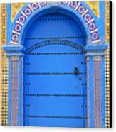 Ornate Moroccan Doorway, Essaouira, Morocco, Middle East, North Africa, Africa Canvas Print