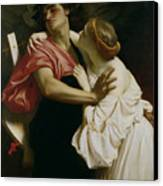 Orpheus And Euridyce Canvas Print by Frederic Leighton
