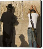 Orthodox Jew And Soldier Pray, Western Canvas Print