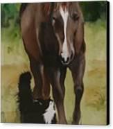 Oscar And Friend Canvas Print