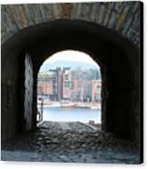 Oslo Castle Archway Canvas Print by Carol Groenen