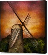 Other - Windmill Canvas Print by Mike Savad