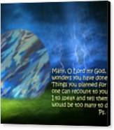 Otherworldly Psalm Forty Vs Five Canvas Print by Linda Phelps