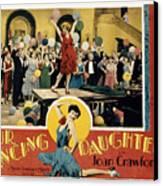 Our Dancing Daughters, Joan Crawford Canvas Print