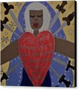 Our Lady Of Sorrows Canvas Print by Angela Yarber