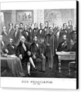 Our Presidents 1789-1881 Canvas Print