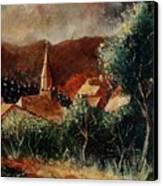 Our Village Opont Canvas Print