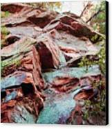 Outcrop At Wildcat Den Canvas Print by Jame Hayes