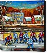 Outdoor Hockey Rink Canvas Print