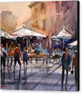 Outdoor Market - Rome Canvas Print
