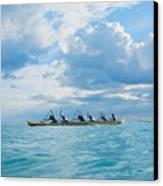 Outrigger Canoe Canvas Print by Bob Abraham - Printscapes