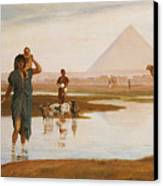 Overflow Of The Nile Canvas Print by Frederick Goodall