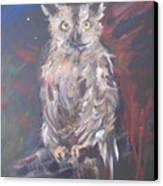 Owl Watchers Canvas Print by Paula Marsh