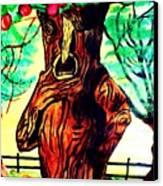 Oz Grumpy Apple Tree Canvas Print by Jo-Ann Hayden