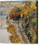 Ozark Fall Canvas Print by Sharon  De Vore