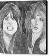 Ozzy Osbourne And Randy Rhoads Canvas Print