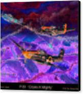 P-51 Cripes A Canvas Print