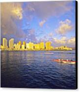 Paddling Beneath Rainbow Canvas Print by Carl Shaneff - Printscapes