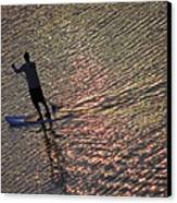 Paddling The Pacific Canvas Print by Elizabeth Hoskinson