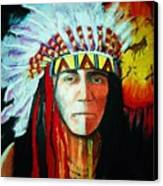 Painted Face Warrior Canvas Print