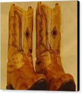 Pair Of Cowboy Boots Canvas Print by Russell Ellingsworth