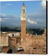 Palazzo Pubblico And Campo Siena Canvas Print