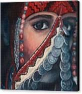 Palestinian Woman Canvas Print