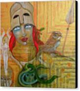 Pallas Athena Canvas Print by Erika Brown