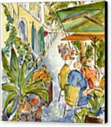 Palm Passage Canvas Print by Pat Katz