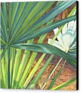 Palmettos And Stellars Blue Canvas Print by Marguerite Chadwick-Juner