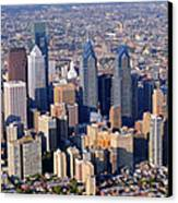 Panoramic Philly Skyline Aerial Photograph Canvas Print