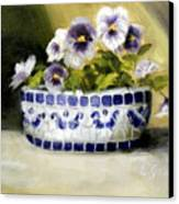 Pansies Canvas Print by Lenore Gaudet