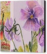 Pansies On My Porch Canvas Print