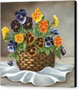 Pansy Basket Canvas Print