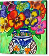 Pansy Parade Canvas Print