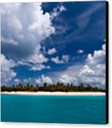 Paradise Is Sandy Cay Canvas Print by Adam Romanowicz