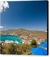 Paradise Point View Of Charlotte Amalie Saint Thomas Us Virgin Islands Canvas Print by George Oze