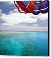 Parasail Over Fiji Canvas Print by Dave Fleetham - Printscapes
