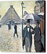 Paris A Rainy Day Canvas Print