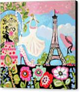Paris Bistro Dress  Canvas Print by Karen Fields