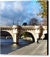Paris Bridge 0523 Canvas Print