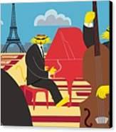 Paris Kats - The Coolkats Canvas Print by Darryl Glenn Daniels