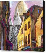 Paris Montmartre 2 Canvas Print by Yuriy  Shevchuk
