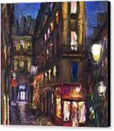 Paris Old Street Canvas Print