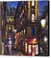 Paris Old Street Canvas Print by Yuriy  Shevchuk